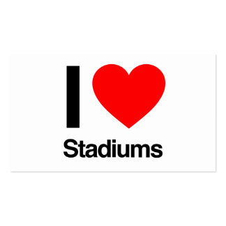 i love stadiums pack of standard business cards