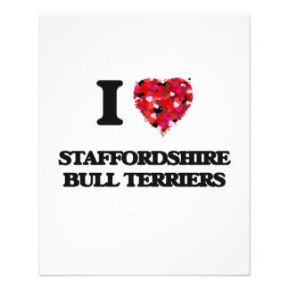 I love Staffordshire Bull Terriers 11.5 Cm X 14 Cm Flyer