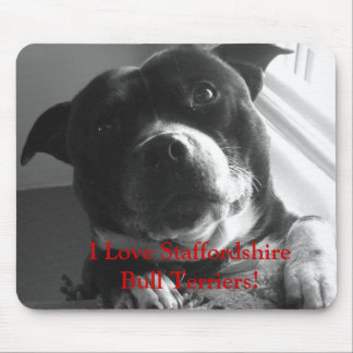 I Love Staffordshire Bull Terriers Mousemat