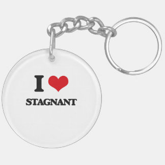I love Stagnant Double-Sided Round Acrylic Keychain