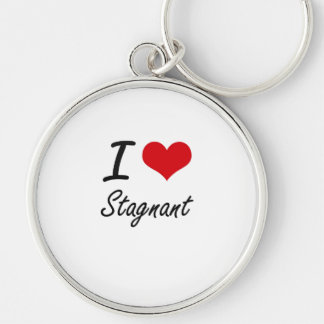 I love Stagnant Silver-Colored Round Key Ring
