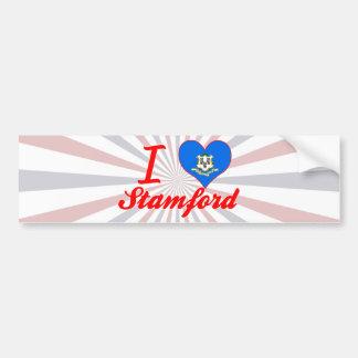 I Love Stamford, Connecticut Bumper Sticker