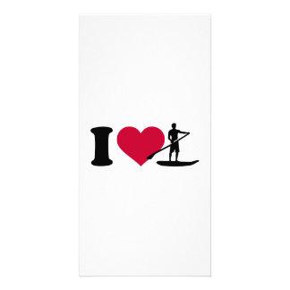 I love Stand up paddling Customised Photo Card