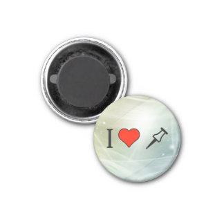 I Love Staple 3 Cm Round Magnet