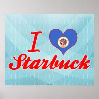 I Love Starbuck Minnesota Posters