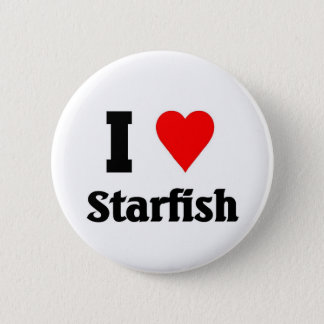 I love starfish 6 cm round badge