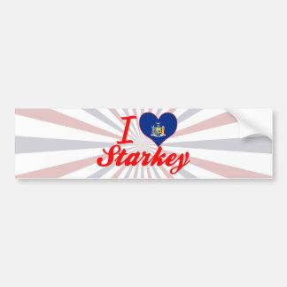 I Love Starkey, New York Bumper Stickers