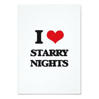 "I love Starry Nights 3.5"" X 5"" Invitation Card"
