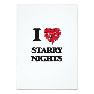 I love Starry Nights 13 Cm X 18 Cm Invitation Card