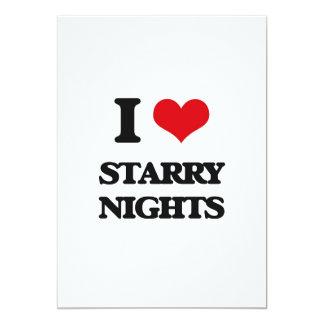"I love Starry Nights 5"" X 7"" Invitation Card"