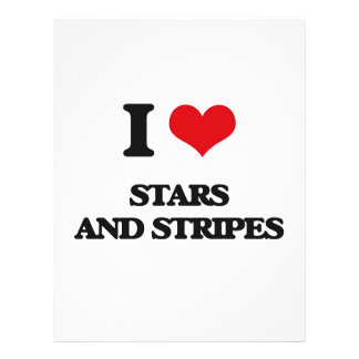 I love Stars And Stripes Full Color Flyer