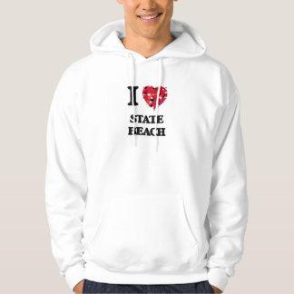 I love State Beach New Hampshire Sweatshirts