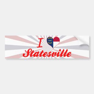 I Love Statesville, North Carolina Bumper Sticker