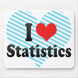 I Love Statistics Mouse Pad