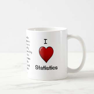I Love Statistics - Rude Reasons Why! Basic White Mug