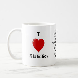 I Love Statistics!  Triple-sided Coffee Mug