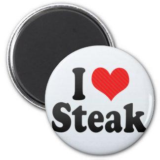 I Love Steak 6 Cm Round Magnet