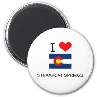 I Love STEAMBOAT SPRINGS Colorado 6 Cm Round Magnet