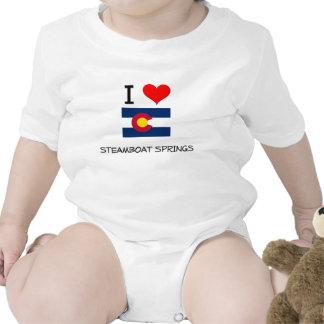 I Love STEAMBOAT SPRINGS Colorado Baby Creeper