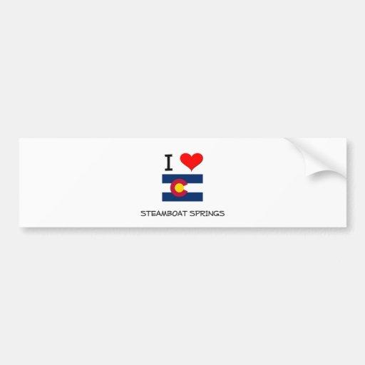 I Love STEAMBOAT SPRINGS Colorado Bumper Stickers