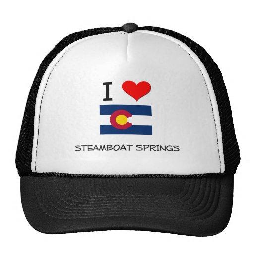 I Love STEAMBOAT SPRINGS Colorado Trucker Hats