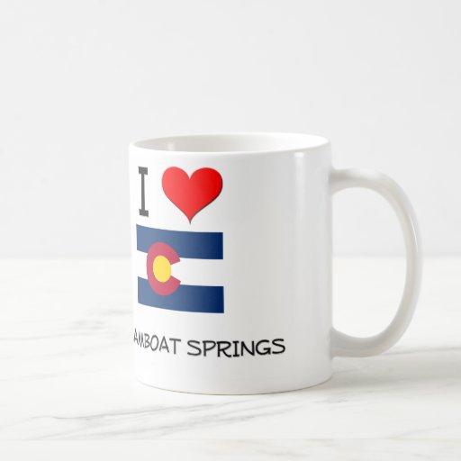 I Love STEAMBOAT SPRINGS Colorado Coffee Mugs