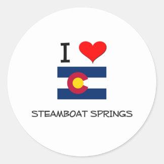 I Love STEAMBOAT SPRINGS Colorado Round Sticker