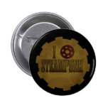 I Love Steampunk Pinback Button