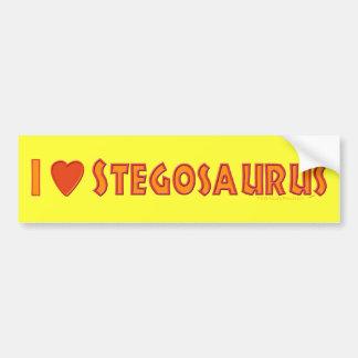 I Love Stegosaurus Dinosaur Lovers Bumper Sticker