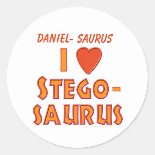 I Love Stegosaurus Dinosaur Lovers Sticker