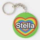 I love Stella. I love you Stella. Heart Key Ring