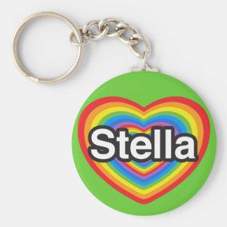 I love Stella. I love you Stella. Heart Keychains