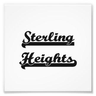 I love Sterling Heights Michigan Classic Design Photo Art