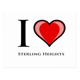 I Love Sterling Heights Postcard