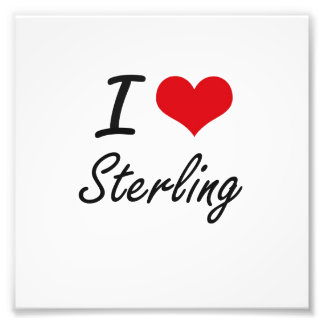 I Love Sterling Photographic Print
