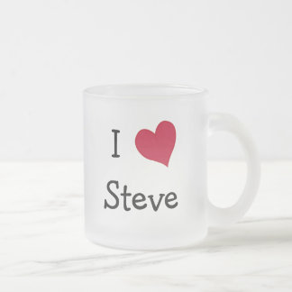 I Love Steve Frosted Glass Coffee Mug