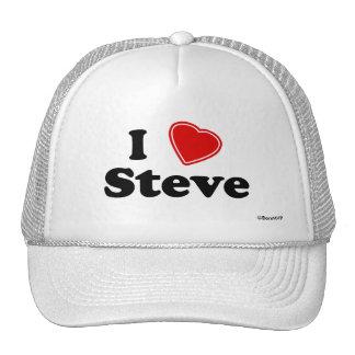 I Love Steve Mesh Hats