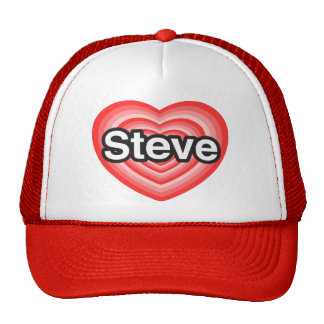 I love Steve I love you Steve Heart Hats