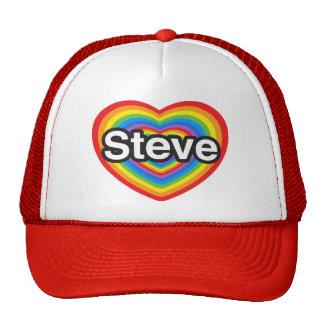 I love Steve I love you Steve Heart Hat