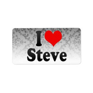 I love Steve Address Label