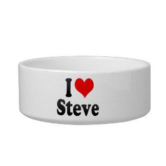 I love Steve Cat Water Bowls