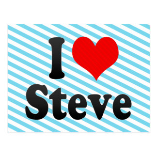 I love Steve Postcard