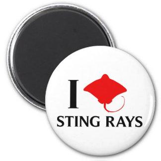 I Love Sting Rays Fridge Magnets