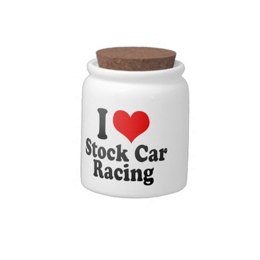I love Stock Car Racing Candy Dishes