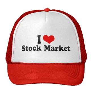 I Love Stock Market Mesh Hats