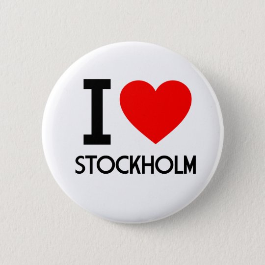 I Love Stockholm 6 Cm Round Badge