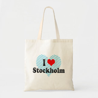 I Love Stockholm, Sweden Tote Bag