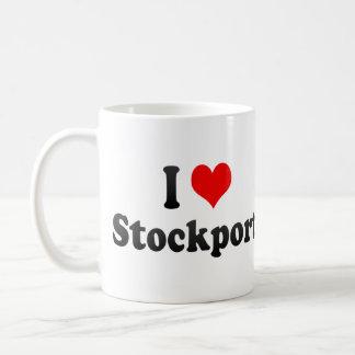 I Love Stockport, United Kingdom Basic White Mug