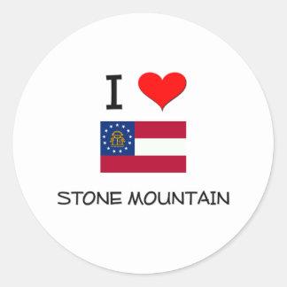 I Love STONE MOUNTAIN Georgia Round Sticker