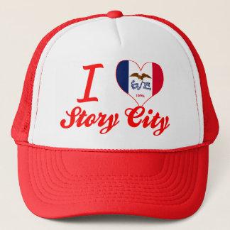 I Love Story City, Iowa Trucker Hat